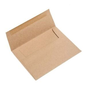 a7 size 7 1 4 x 5 1 4 in brown bag kraft envelopes set of 25 for