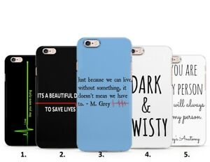 582846c71f9 GREY'S ANATOMY SAVE DAY QUOTES PHONE CASE COVER IPHONE 5 6 7 8 X XS ...