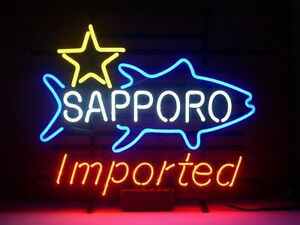 New Sapporo Imported Real Glass Neon Light Sign Home Beer Bar Pub Sign H17