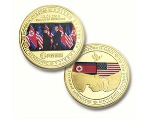 Business-Souvenir-Gifts-US-amp-Korea-Peace-Agreement-Commemorative-Metal-Coin-Gifts