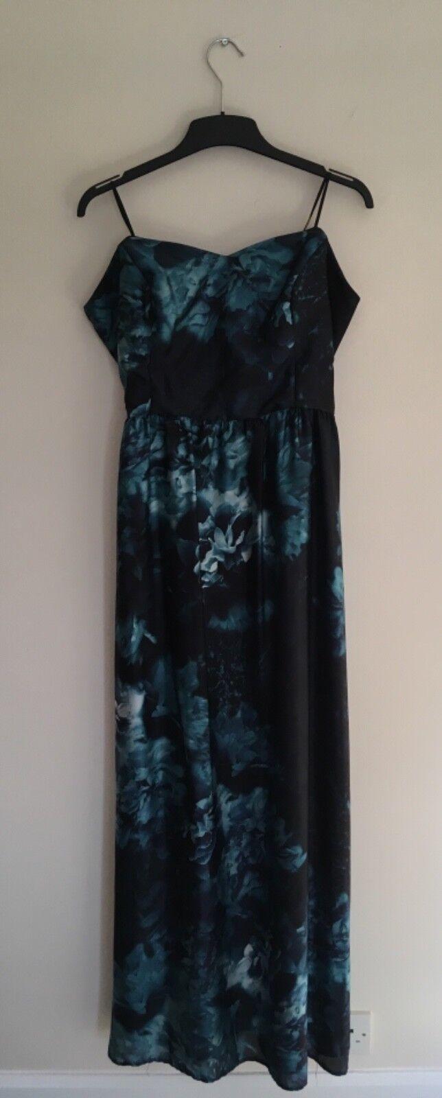 Ariella strapless womans dark bluee full length sumner dress