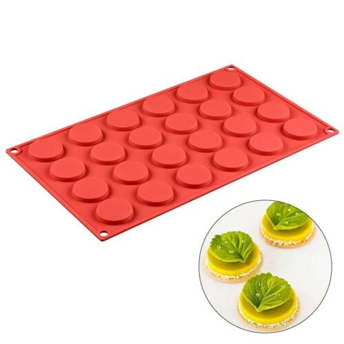 Silicone Molds Pastry Flat Round Cake Decoration Tools Cookie Mold Chocolate DIY