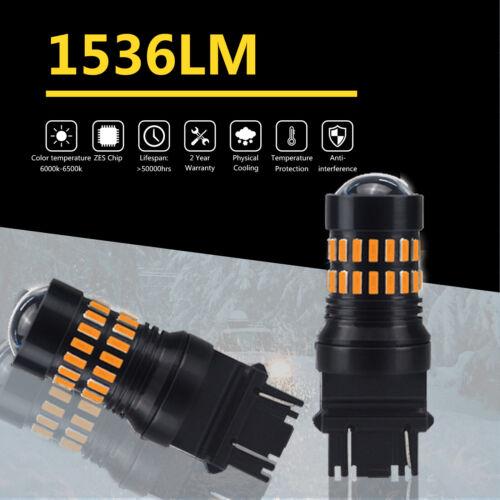 2X 3157 Amber Yellow LED Flashing Blinking Brake Tail Light//Parking Bulb