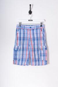 Vintage Levi's Mädchen Kariert Cargo Shorts Blau (W28)