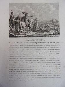 Gravure de Thiébault Général de Brigade né à Berlin