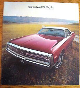 1970-Chrysler-Prestige-Color-Brochure-New-Yorker-Newport-300-T-amp-C-Original-Xlnt