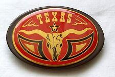 Gürtelschnalle Texas Longhorn rot Stierkopf Austin Ranger Lone Star Belt Buckle