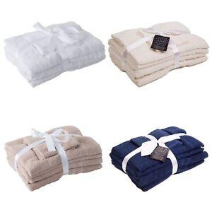 Conjunto-de-toallas-de-lujo-marca-victoria-LONDRES-Set-100-Algodon-Peinado-Hilo-500-GSM