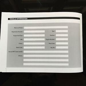 peugeot 307 service book history maintenance record. Black Bedroom Furniture Sets. Home Design Ideas