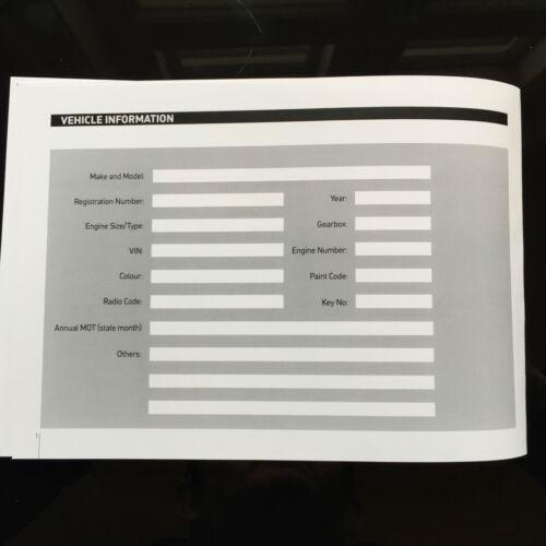 FIAT MULTIPLA SERVICE BOOK-STORIA record di manutenzione-NUOVO vuoto