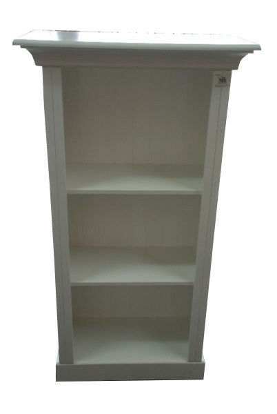 * MAIDSTONE FURNITURE* BOOKCASES MEDIUM IN LIGHT STONE, WHITE OR FRENCH GREEN 140cmH x 74cmW x 37cmD