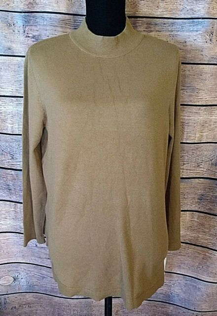 Charter Club Size Extra Large Salty Nut Sweater Rayon Nylon Pullover Womens NWT