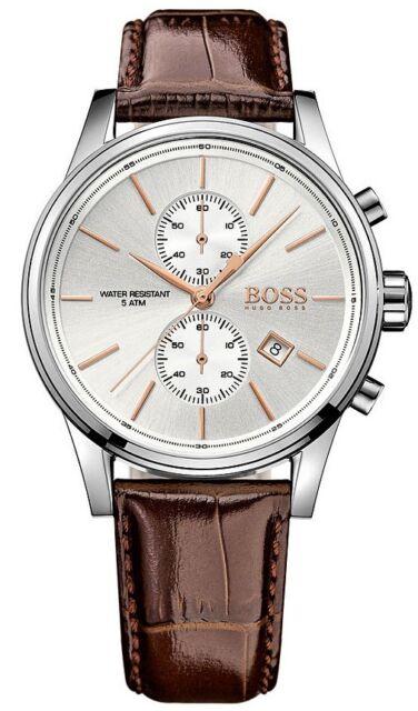 Hugo Boss HB1513280 Jet 41mm Correa de Piel Marrón Hombres Reloj Cronógrafo