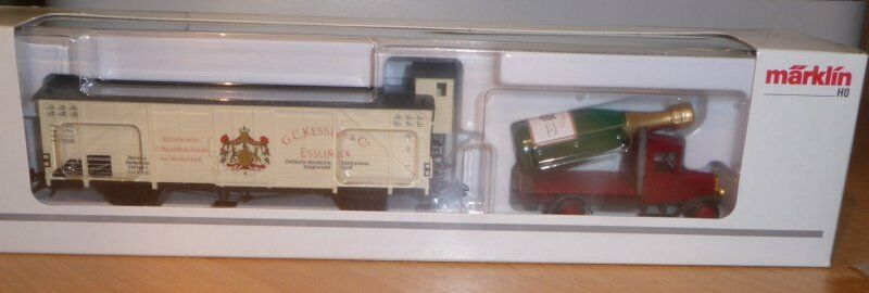 Märklin ho museum car h0 2002 sparkling wine kessler Esslingen EMB. orig