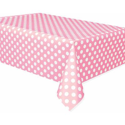 Hot Pink and White Polka DotDotsParty TablecoverTablecloth 1-5pk