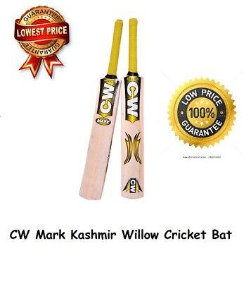 MARK Cricket Bat Kashmir Willow Soft Tennis Ball Junior SIZE YELLOW COSTUME