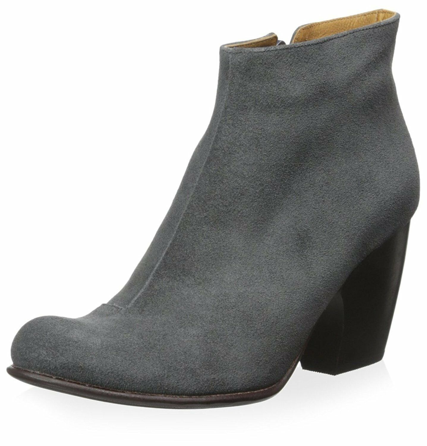 COCLICO SHOES VERNON BOOTIES SOFTY GRAY SUEDE ANKLE BOOTS SIDE ZIP NIB 37 415