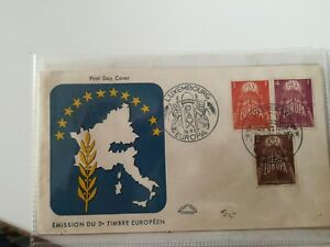 FDC-Luxembourg-Europa-1957