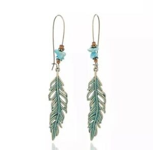 Women-039-s-Fashion-Jewelry-Vintage-Antique-Alloy-Leaf-Dangle-Earrings-68-8
