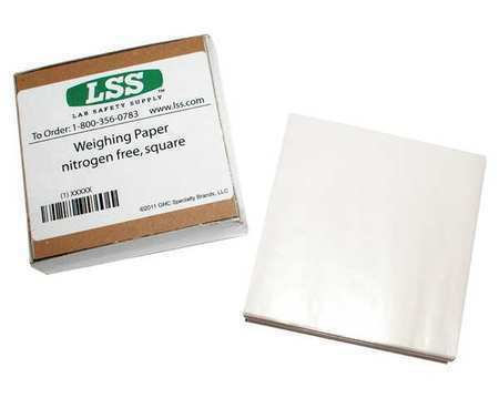 L,3 In LAB SAFETY SUPPLY 12L005 Weighing Paper,3 In W,PK500