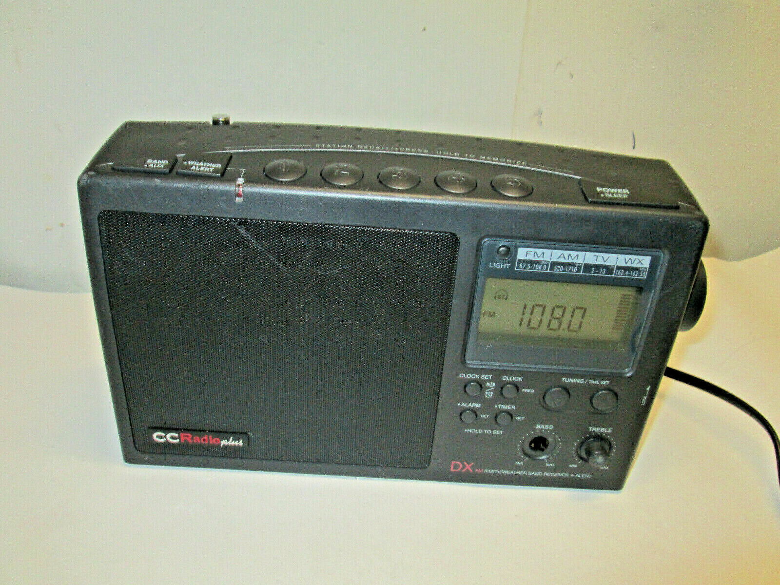 Cariole Portable Multi Band Radio Am FM TV CB Receiver Model 28160 for sale  online
