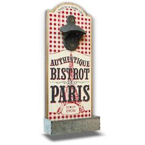 Kapselheber-Wand-Bier-Flaschenoffner-Bistrot-de-Paris-Holz-Retro-Vintage-Natives