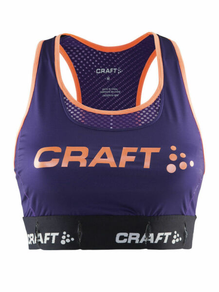 Craft Pulse Cool Bra Sport BH Fitness Gym Sportbh lila purple Gr. 70 90 C D NEU