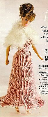 GORGEOUS After Hours Fashion Doll Dress & Shawl/Crochet Pattern Instructions