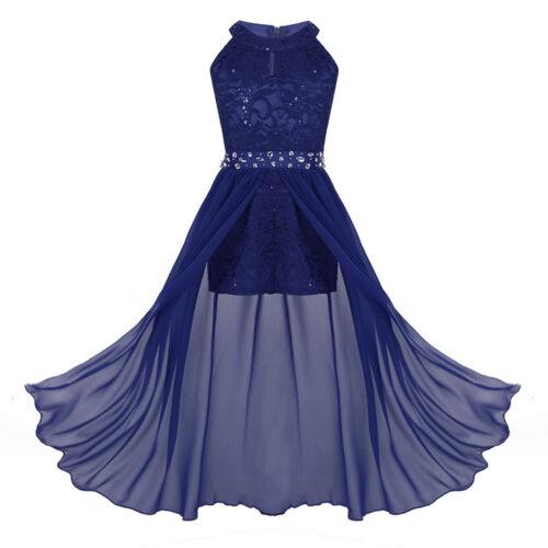 Blumensmädchenkleid Festliches Mädchen Strampler Kleid Spitze Hochzeit Ballkleid
