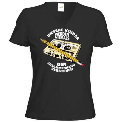 Zusammenhang T-Shirt Damen V-Neck getshirts RAHMENLOS® Geschenke