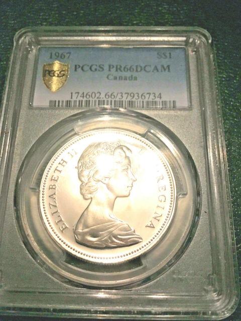 Canada 1967 Silver Dollar PCGS PR66DCAM