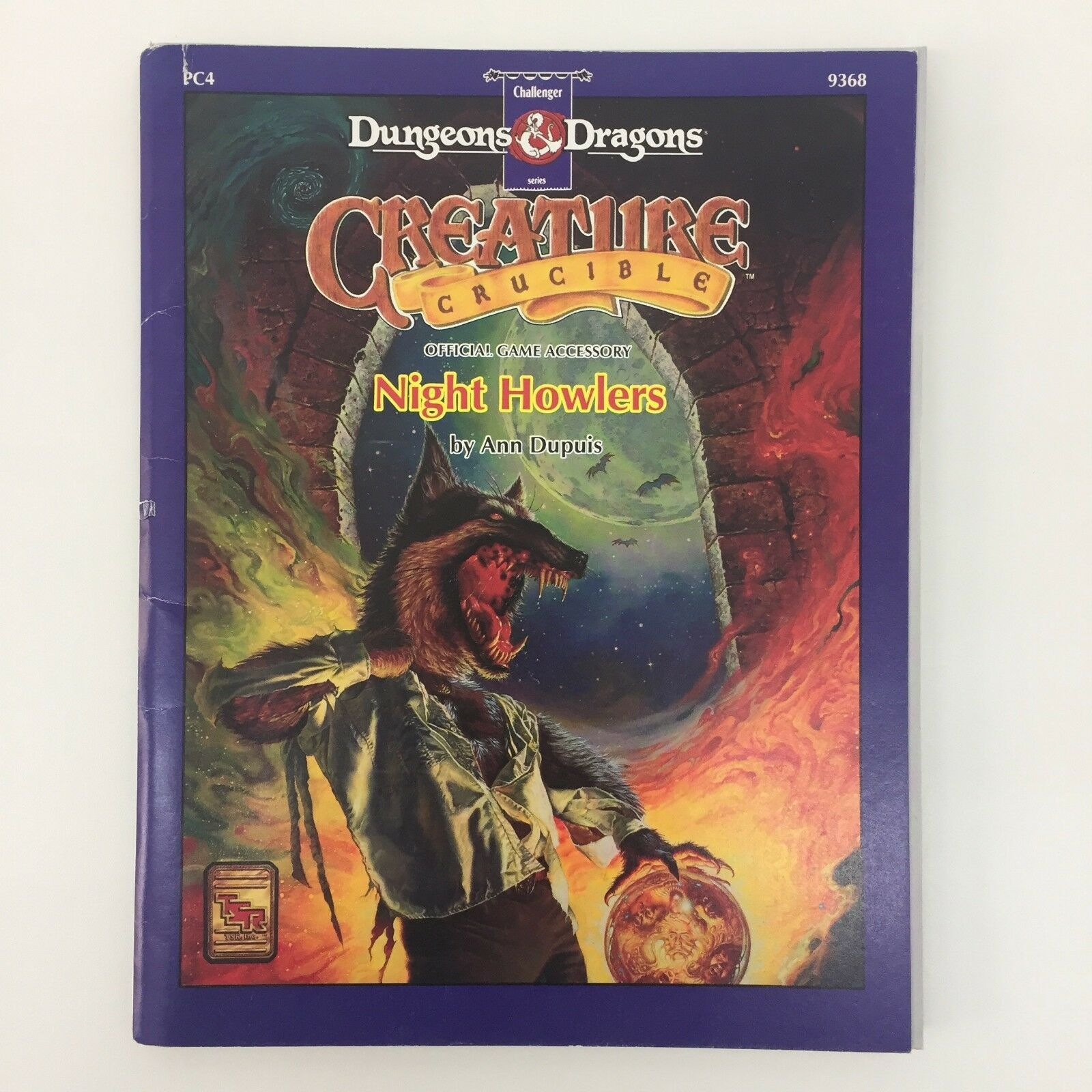 TSR ADVANCED DUNGEONS & DRAGONS CREATURES CRUCIBLE NIGHT HOWLERS RPG D&D 9368