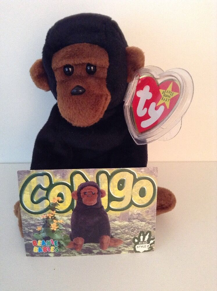 Ty Beanie Babies Congo With Collector Card