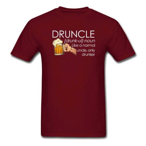 Druncle Beer Uncle Like A Normal Uncle Only Drunker Funny Birthday Gift T Shirts