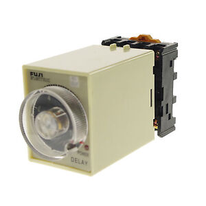 110VAC-DC-30-Minutes-Power-Off-Delay-Time-Relay-With-Base