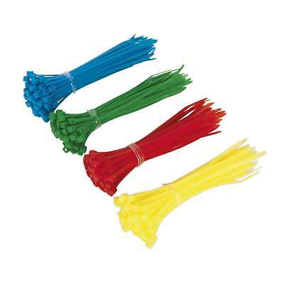 Sealey Cable Ties 2.4 X 100mm Pack Of 200 Assorted 5 Colour Cable Tie Pack Ct200 Klanten Eerst