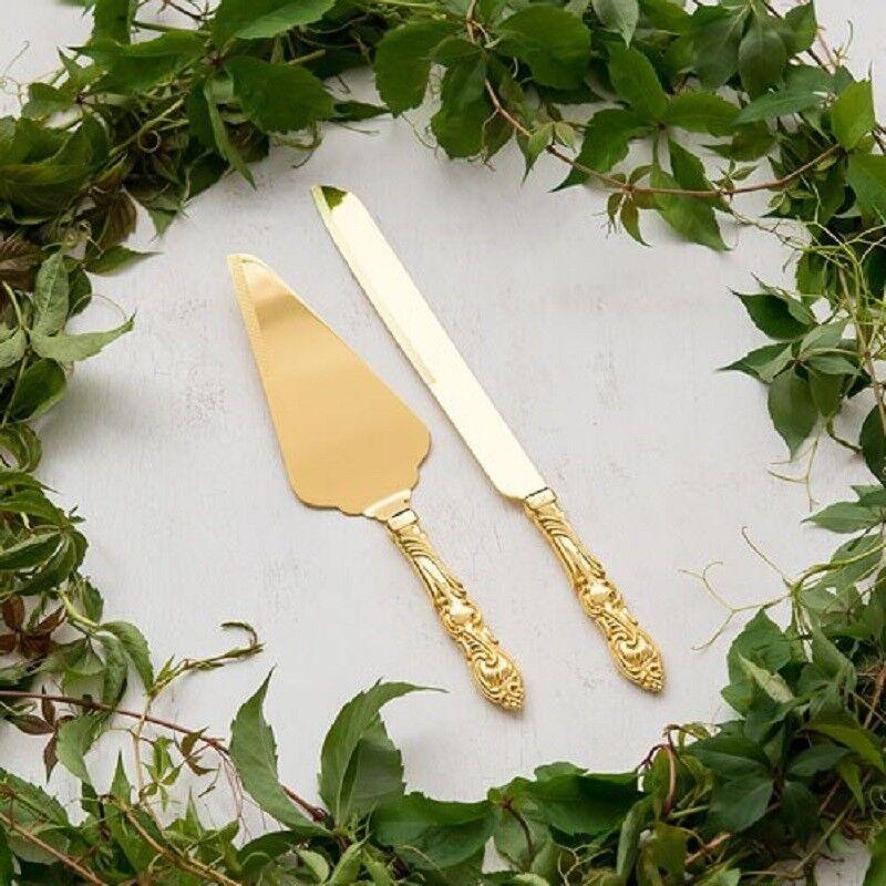 Edles Tortenservierset ROMANCE Besteehend aus Tortenmesser & Tortenheber