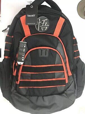 Dragon Ball Z Goku Built-Up Backpack School Book Bag Roshi Kanji Dragonball NWT