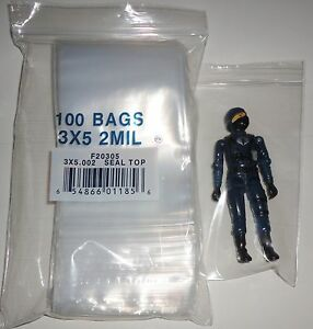 Storage-Bags-lot-of-100-Perfect-for-3-3-4-Star-Wars-or-GI-Joe-Action-Figures
