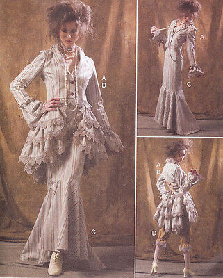 Steampunk costume PATTERN McCalls 6770 Sz 4-20 Industrial Age Bustle jacket suit