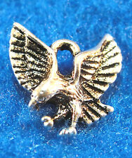50Pcs. WHOLESALE Tibetan Silver EAGLE Small Pendants Charms Earring Drops Q0201
