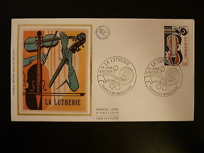 France Premier Jour Fdc Yvert 2072 La Lutherie 1,30f Paris Et Mirecourt 1979 To Clear Out Annoyance And Quench Thirst Topical Stamps