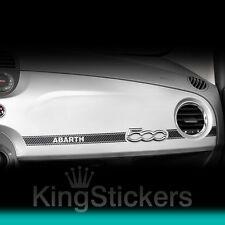 Adesivo FIAT 500 sticker ABARTH effetto CARBON LOOK 3D plancia cruscotto