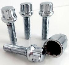 Set of Alloy wheel locking bolts M12 x 1.5 Radius Seat 40mm Thread Length locks