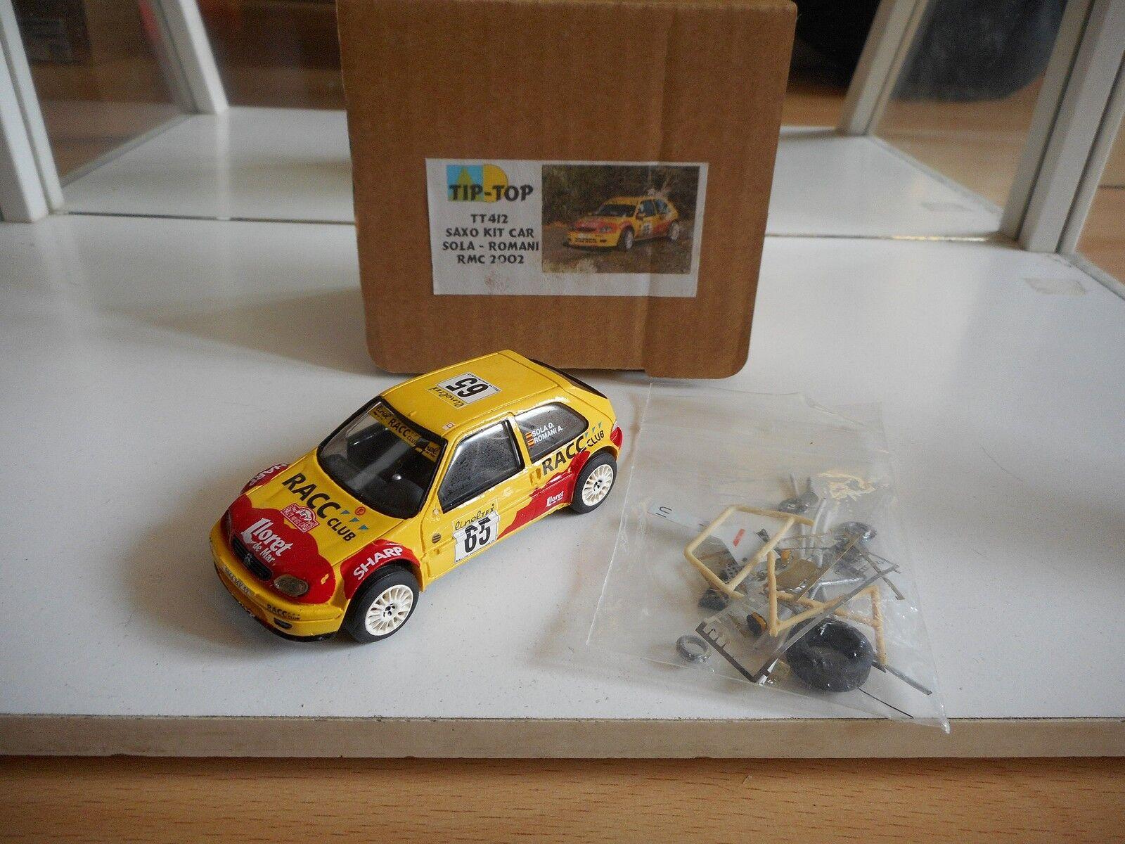 Tip Top Saxo Kit voiture Sola - Rohommei Rally  Monte voiturelo 2002 jaune on 1 43 in Box  Commandez maintenant