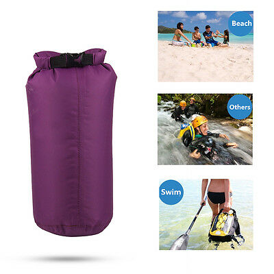 Outdoor Waterproof Bag Canoe SwimmingCamping Hiking Backpack Dry Pouch 8L-Purple