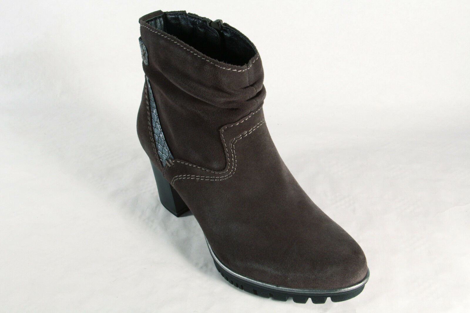 JANA Women's Boots, Ankle Ankle Ankle Boots, Boots, Real Leather Grey 25333 NEW c916d7