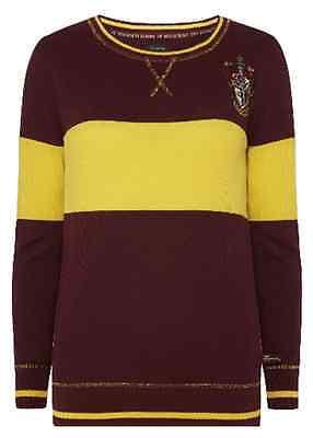 Harry Potter Women's Gryffindor Quidditch Thin Jumper Sweater Ladies Primark
