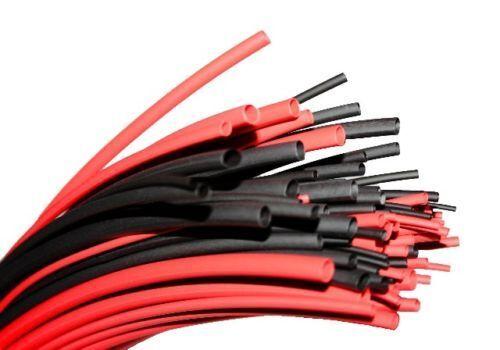 Various Sizes  Black /& Red Heat Shrink Tube Sleeving Car Wire Wrap Heatshrink