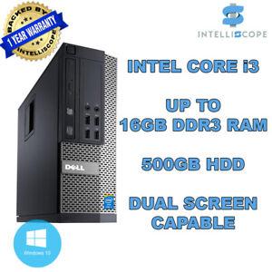 DELL / HP COMPUTER INTEL i3 DESKTOP TOWER WINDOWS 10 WIFI 16GB RAM 500GB HDD